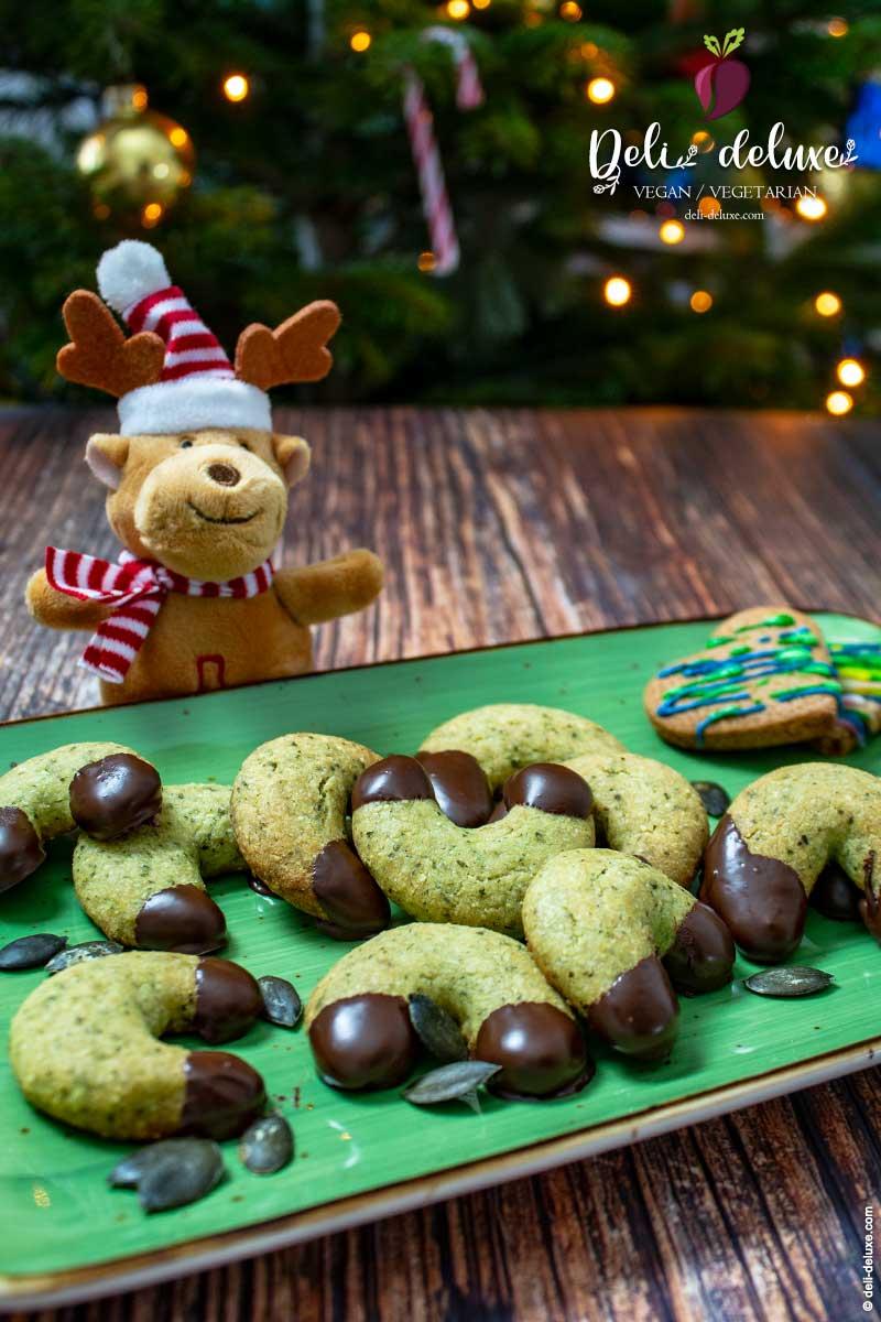 Kürbiskernkipferl mit Schokolade 🎄🎄