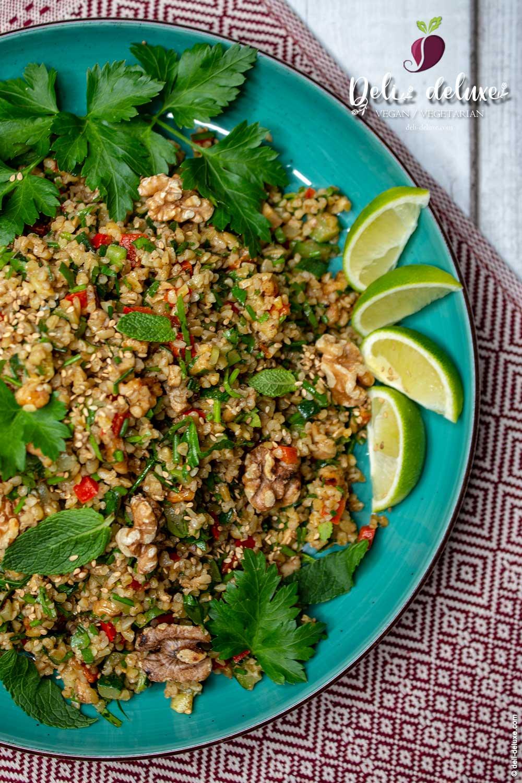 Dukkah-Taboulé mit geröstetem Gemüse 🥕🥕