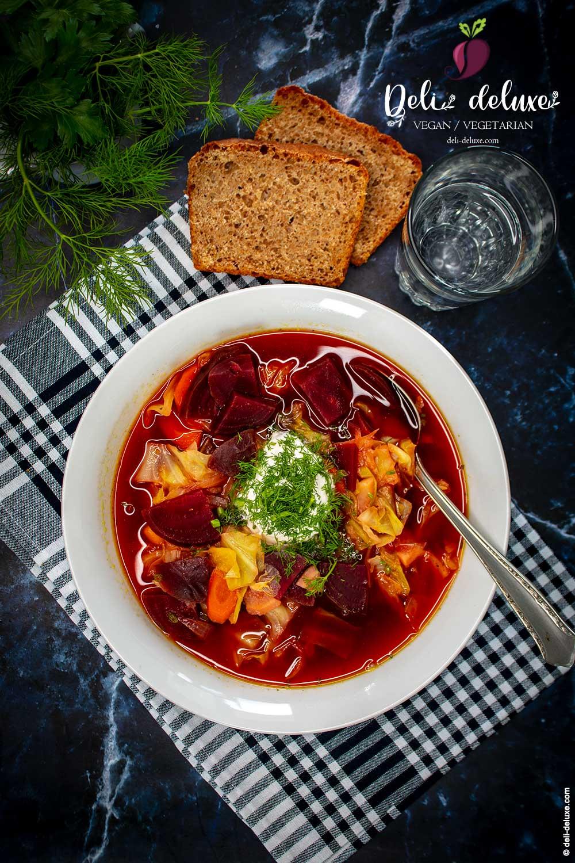Veganer ukrainischer Borschtsch 🥕🥕