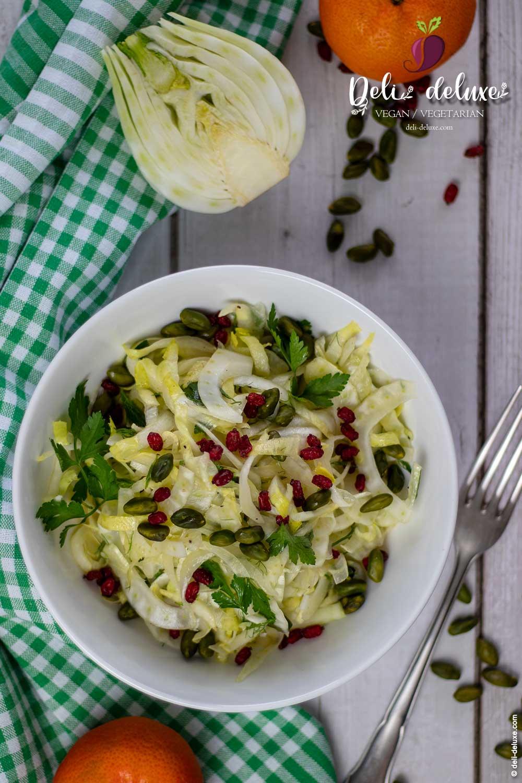 einfacher Fenchel-Chicorée-Salat 🥕🥕