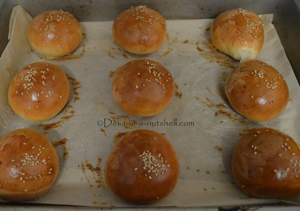 Buns out of the oven