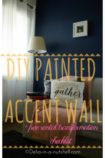 DIY accent wall- painting- royal blue
