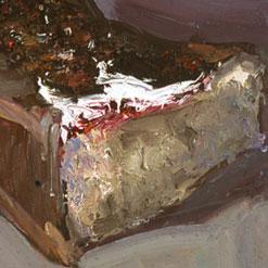 Cake II, Oil on linen. 30 x 40 cm