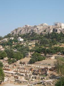 View of the Acropolis and the agora of Athens. Author: Daniel Lobo