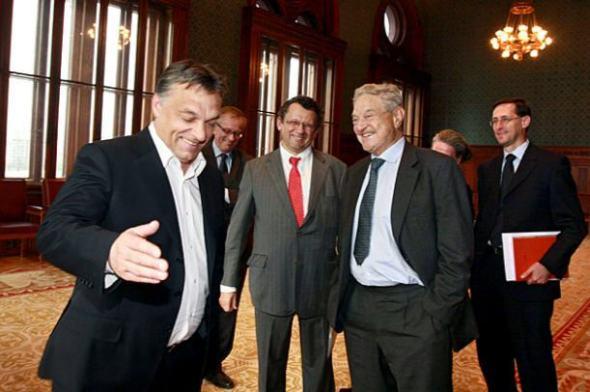 Soros a Orbán