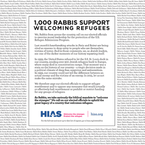 HIAS - 1,000+ Rabbis Sign Letter In Support of Welcoming Refugees