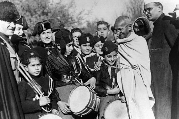 Mahátma Gándhí Itálie 1931