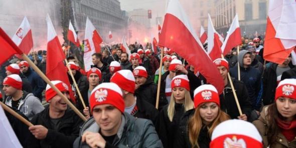 Polská nacionalistická mládež v ulicích