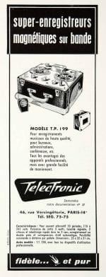 Telectronic tape recorder