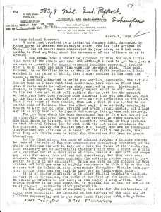 Zpráva kapitána Montgomery Schuylera z 1. října 1919, s. 1