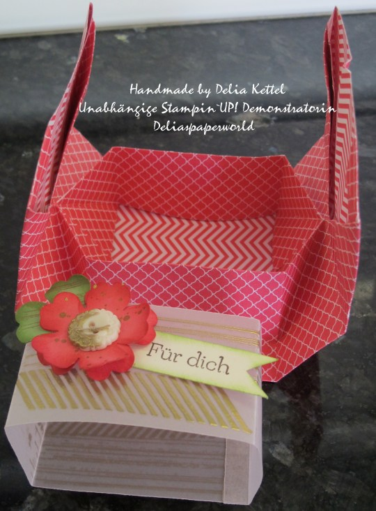Origami Box Rhabarberrot 2