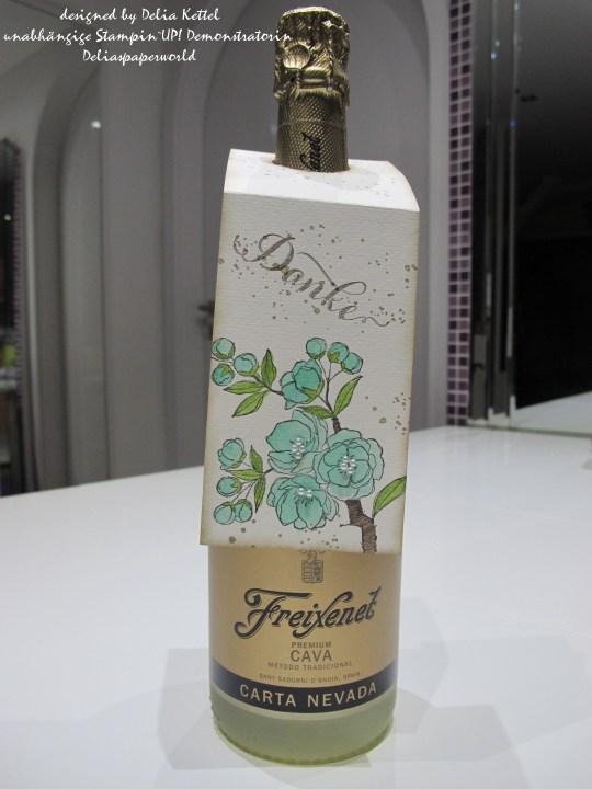 Flaschenanhänger Kirschblüte