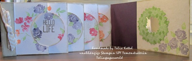 Mini-Album Circle Thinlits Painted Petals 2