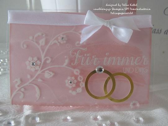 Hochzeitskarte Zartrosa