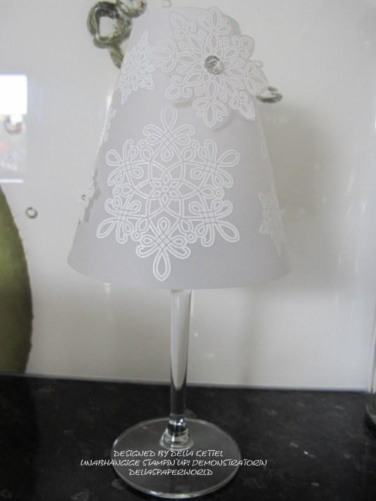 Lampenschirm für Weinglas d
