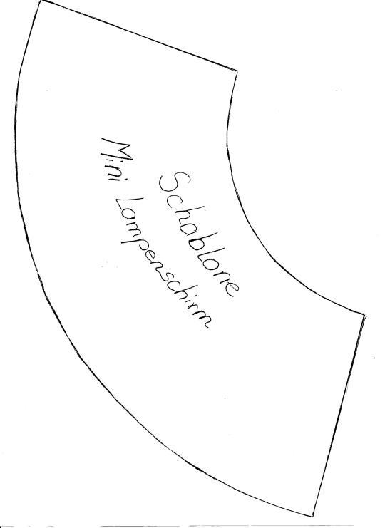 Schablone Lampenschirm 001