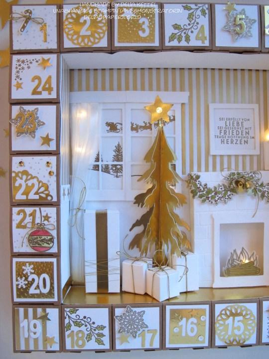 Adventskalender 3 weiß-gold 2015