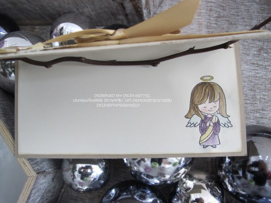 Weihnachtskarte Engel 2 Delia Kettel