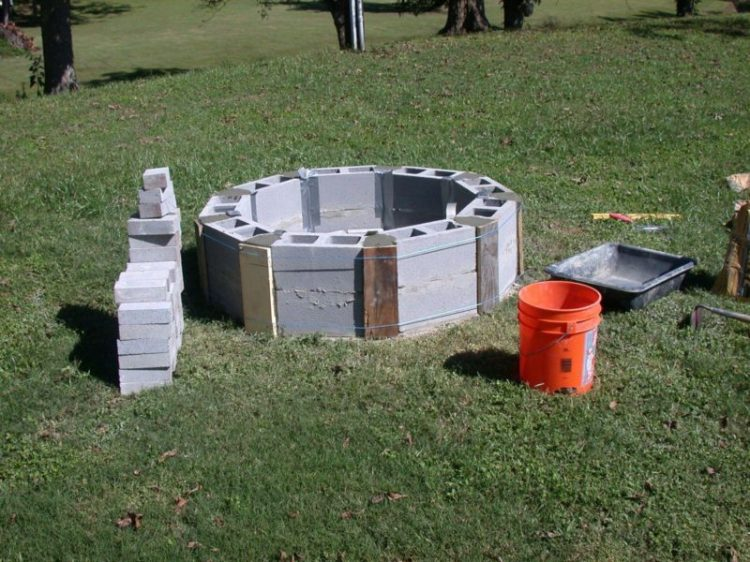 Cinder Block Fire Pit Design Ideas and Tips How to Build It on Diy Cinder Block Fireplace id=34945