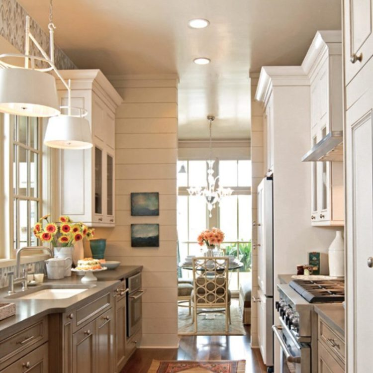Kitchen with Walkway and Breakfast Room