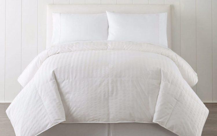 Down comforter opener