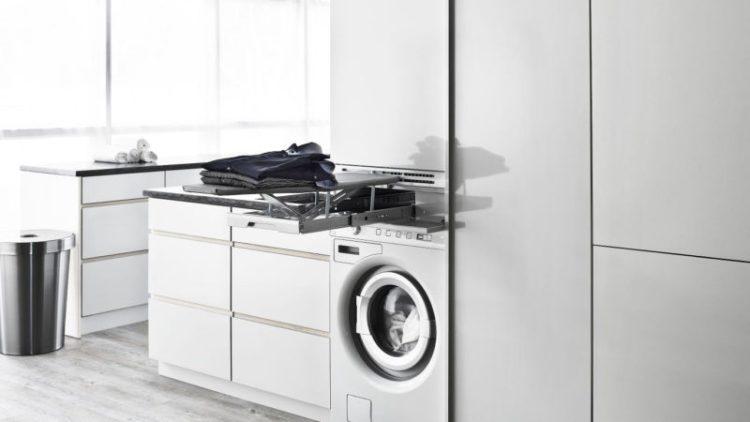 Hidden ironing board laundry room