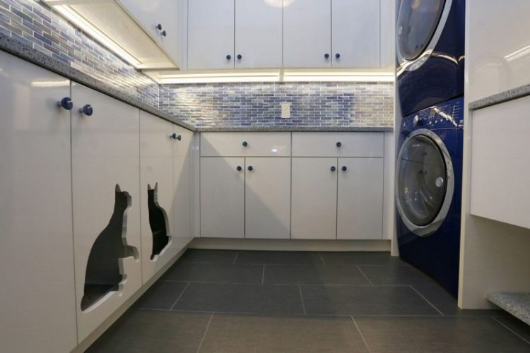 Pet space in laundry room