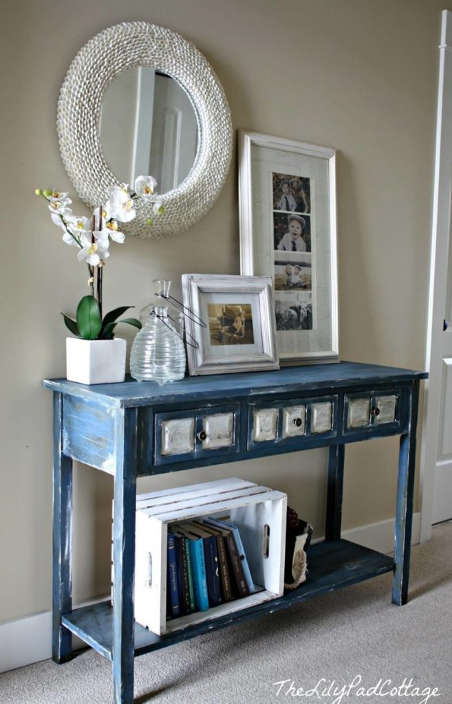 Mediterranean Blue Entry Table Design