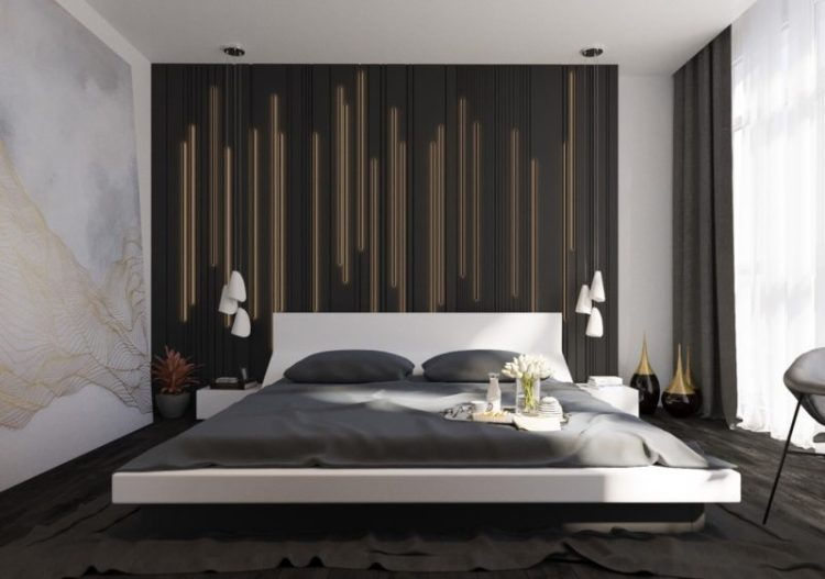 Texturing Black & Gold Wall