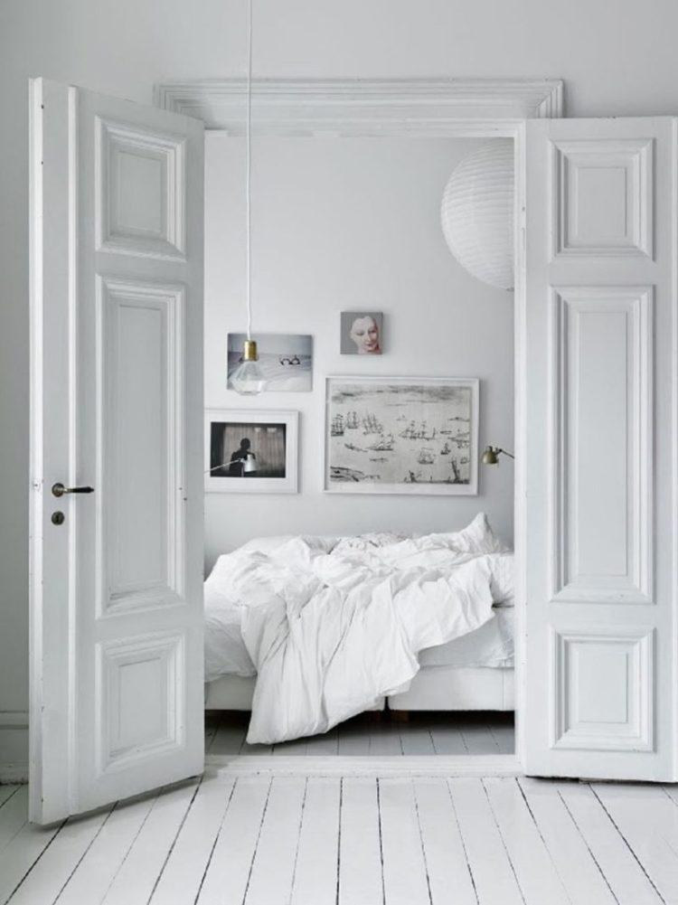 White Wooden Bedroom Floors