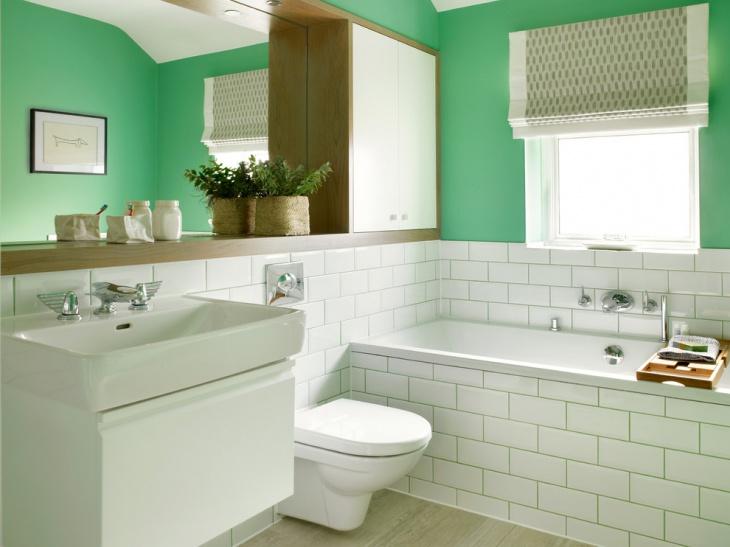 Half Bathroom Green Wall