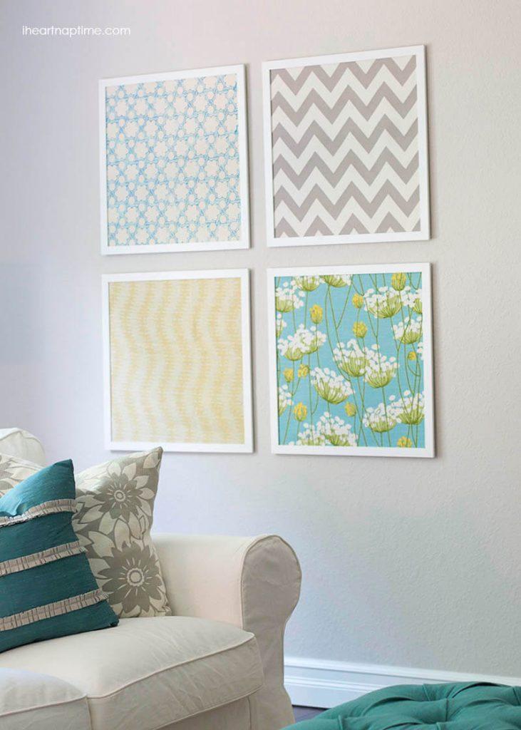 Fabric Wall Art Girls Room Decor Ideas