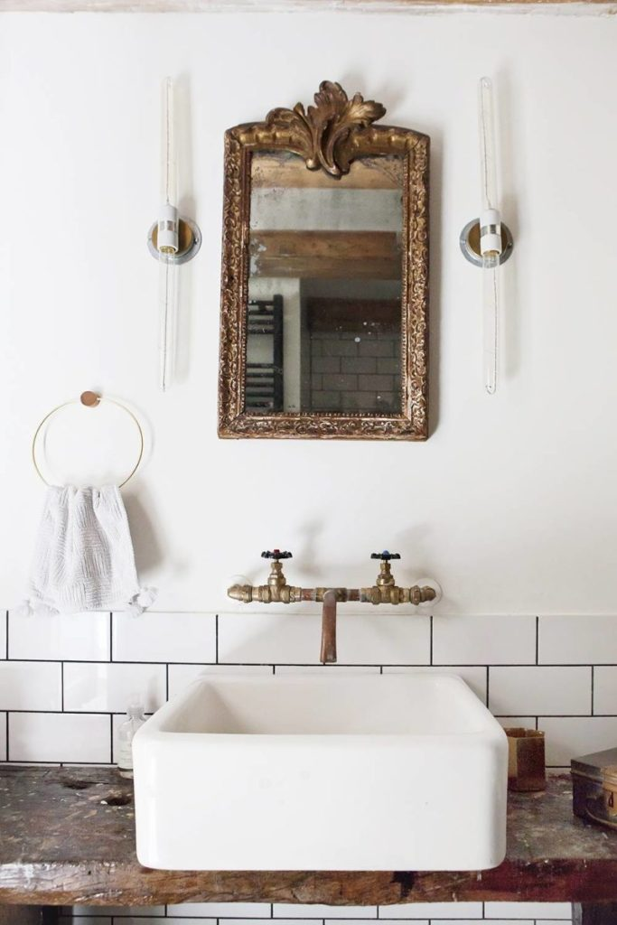 Old Bathroom Mirror