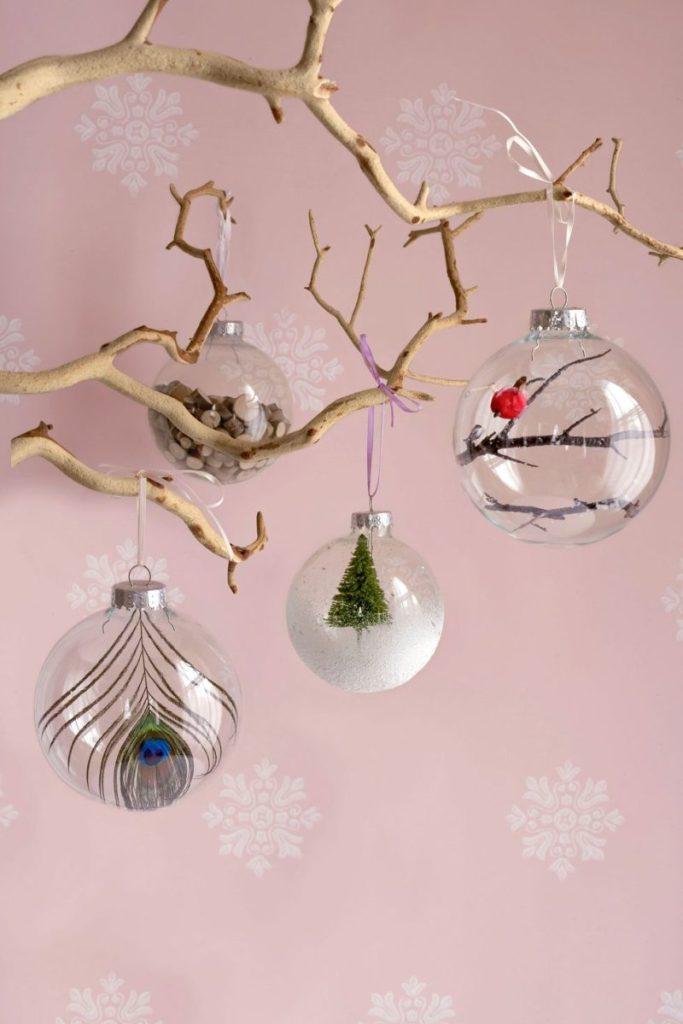 Upgrade a Plain Glass Ornament