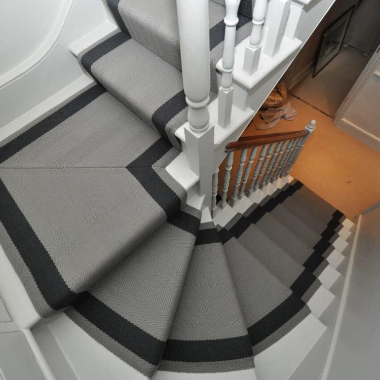 Grey stair carpet runners ideas