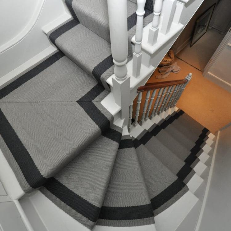 Grey stair carpet runners ideas