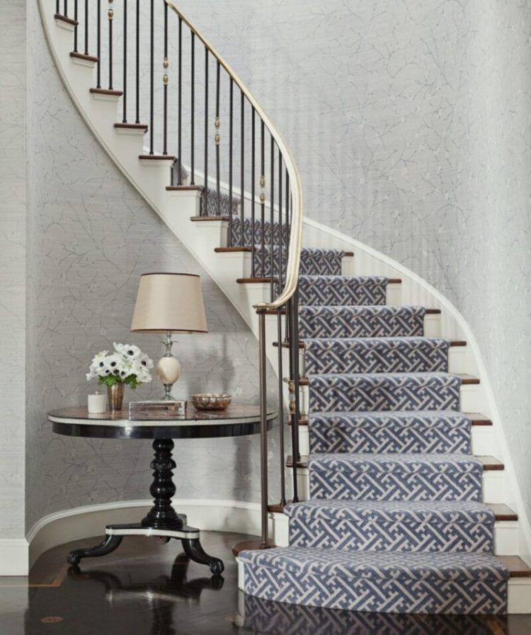 Herringbone carpet stair runners
