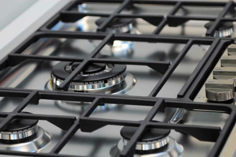 how to clean stove top grates cast iron