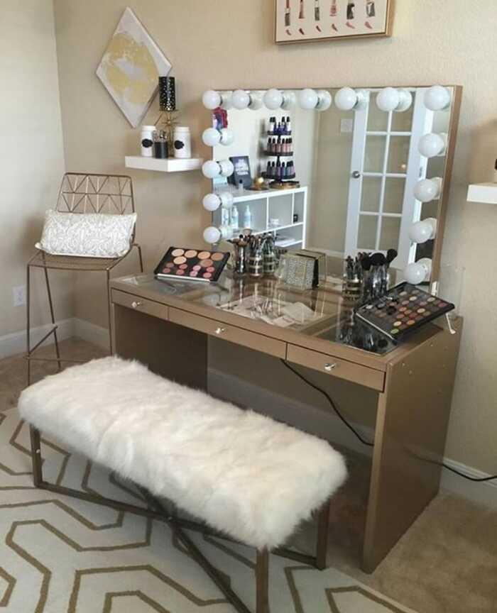 original makeup table design