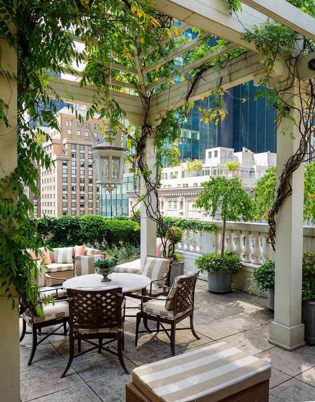 Rooftop garden and pergola