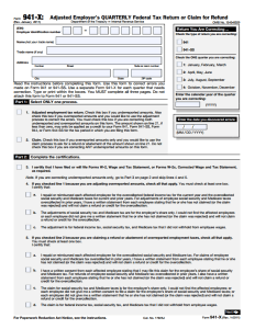 IRS Form 941 How to fill out, employer Tax