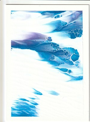 Cool Metallic colors of Blue and purple with white