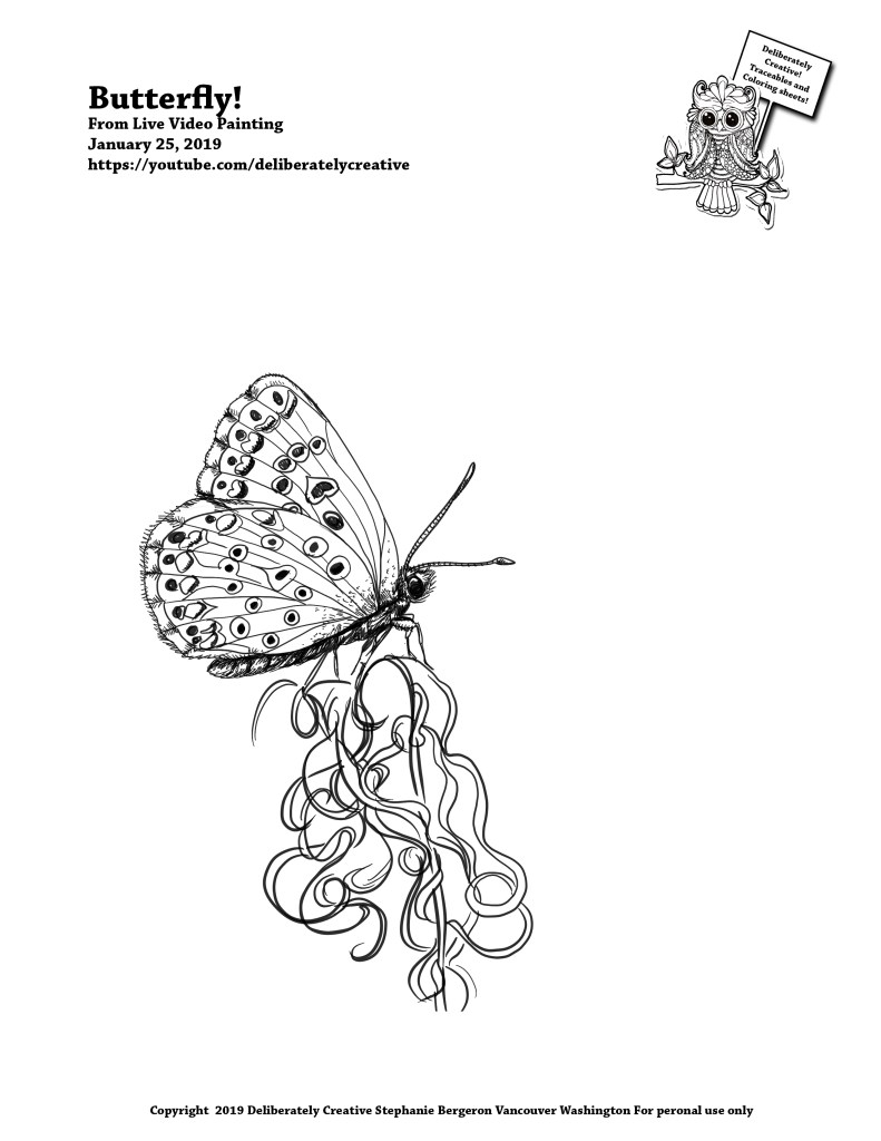 Black line Butterfly