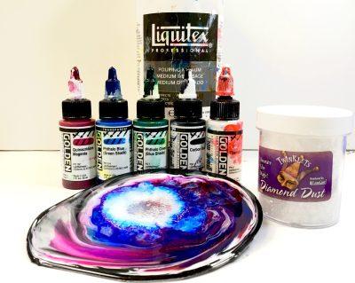 liquitex pouring medium and Golden High Flow Bottles