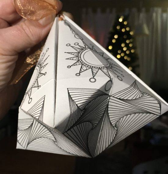 folded paper ornament