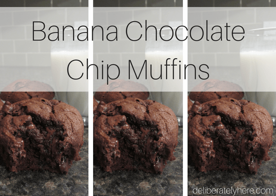 food, dessert, sweet treat, chocolate, muffins, homemade, recipe, banana muffins, banana chocolate chip muffins