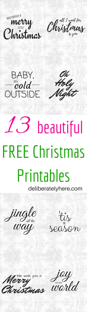 Free Beautiful Christmas Printables. FREEBIES