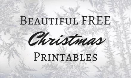 Beautiful Free Christmas Printables (FREEBIE)