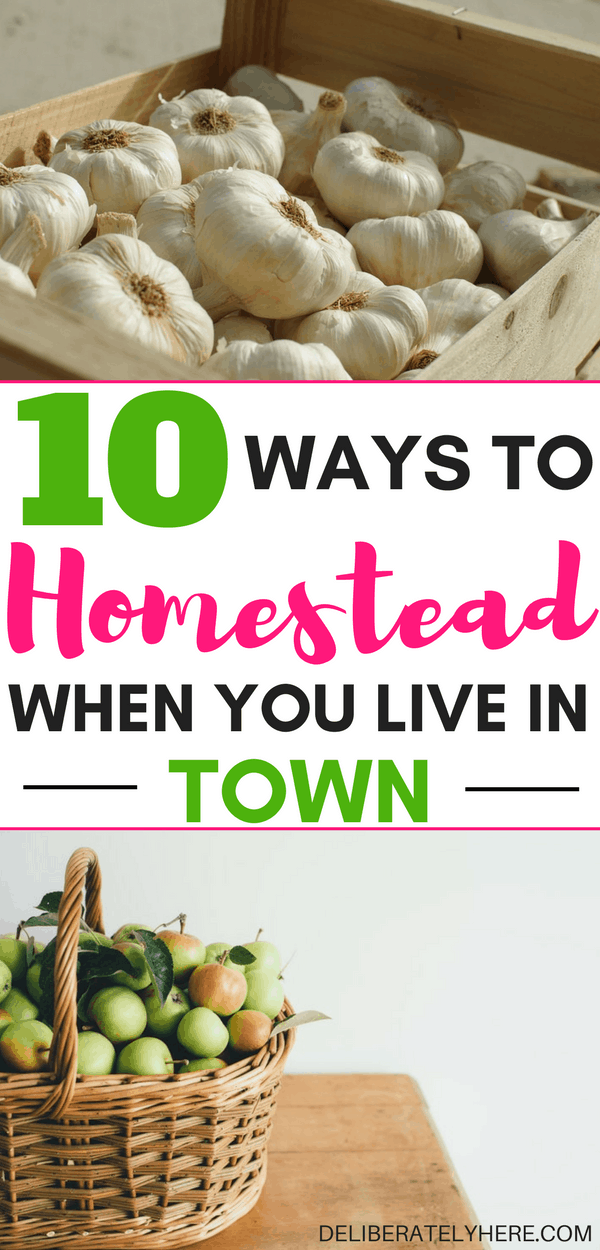 10 ways to homestead when you live in town | 10 homesteading tips to a frugal and simple life