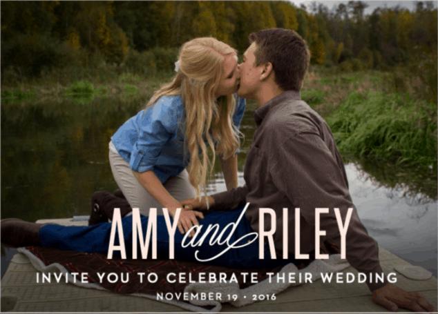 Basic Invite Personal Customized Wedding Invitation Deliberately Here